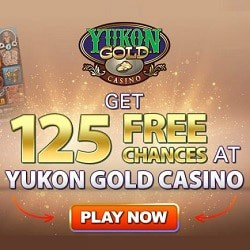 How to get 125 free spins on Mega Moolah at Yukon Gold Casino?