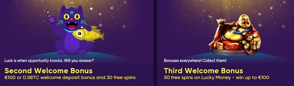 Second and Third Deposit Bonus