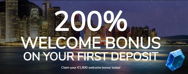 Claim 200% bonus on your first deposit