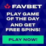 FavBet Casino 120 free spins in Game of The Day promotions