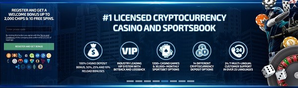 Cryptocurrency Casino Online - the best games, slots, live dealer, sportsbook!