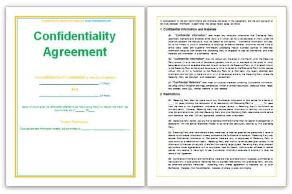 3 Confidentiality Statement Templates Word Excel Sheet PDF – Confidentiality Statement
