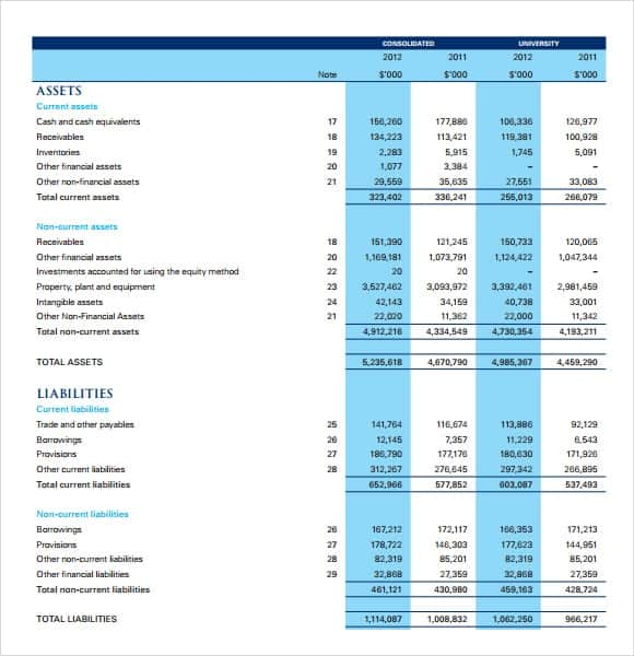 Income Statement Template  Blank Income Statement