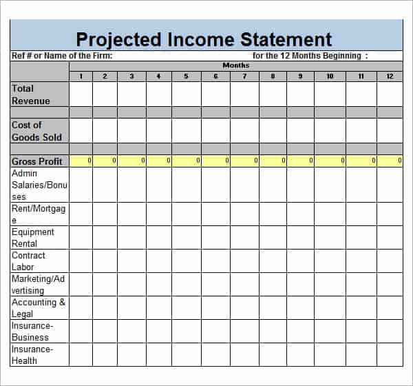 Free Income Statement Templates  Word Excel Sheet Pdf