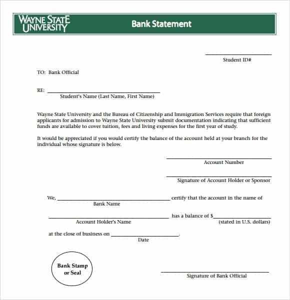 9 Free Bank Statement Templates Word Excel Sheet PDF