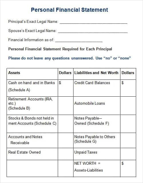Free Business Statement Templates  Word Excel Sheet Pdf