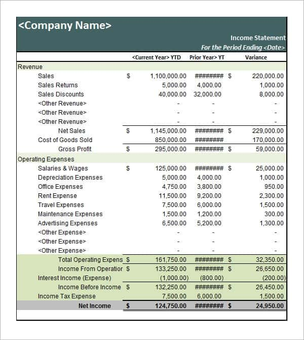 6 Free Statement of Account Templates Word Excel Sheet PDF – Statement of Account Template Free