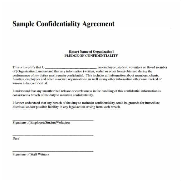 Nice Confidentiality Statement Template Image 111