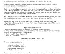 4 Free Mission statement templates