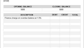 9 Free Bank Statement Templates - Word Excel Sheet PDF