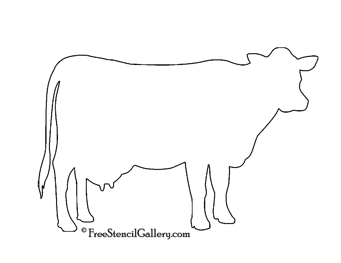 Dairy Cow Outline