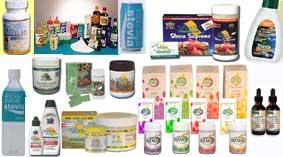 Verschiedene Stevia-Produkte