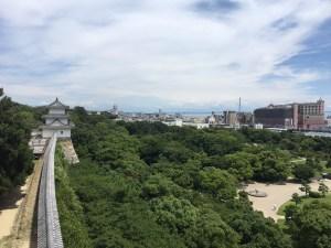 明石城からの眺め