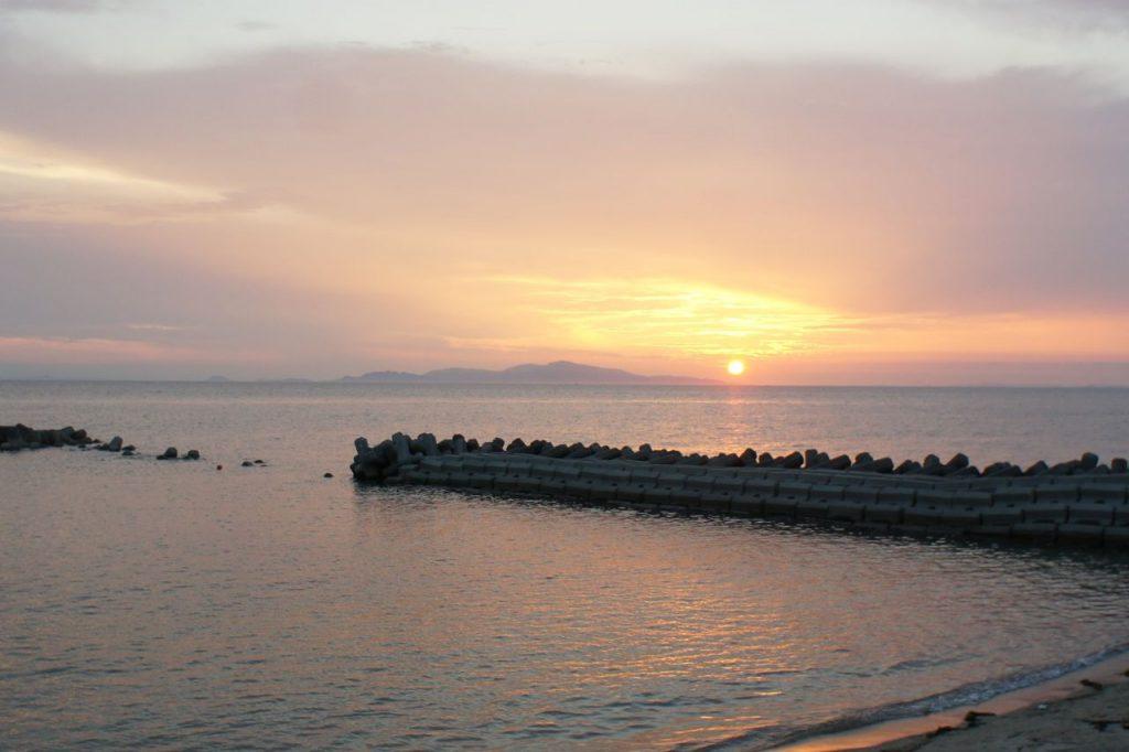 小豆島に沈む夕日