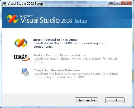 How to install Visual Studio 2008