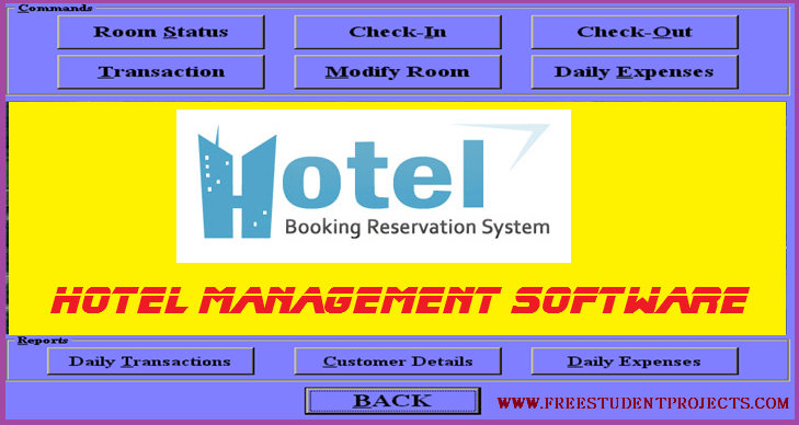 Hotel Management Software - Free Student Projects