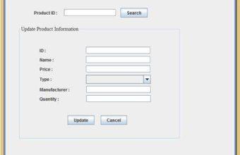 Screenshot of POS Software