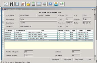 College Enrollment System