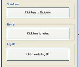 Shutdown computer using VB.Net