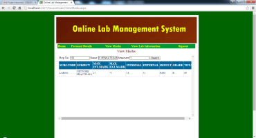 Online Lab Management System