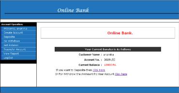 JAVA Online Banking System