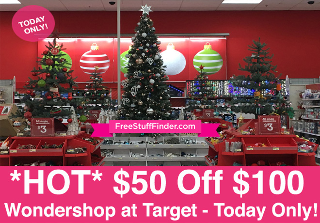 50 Off 100 Wondershop Christmas Purchase At Target