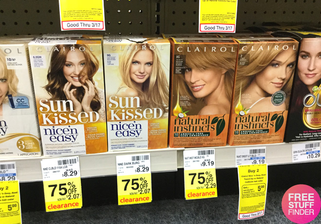 Clearance Finds 75 Off Clairol Hair Color Products At