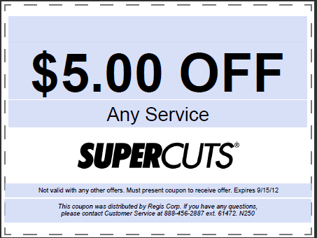 5 Off Any Haircut At Supercuts Free Stuff Times Coupons