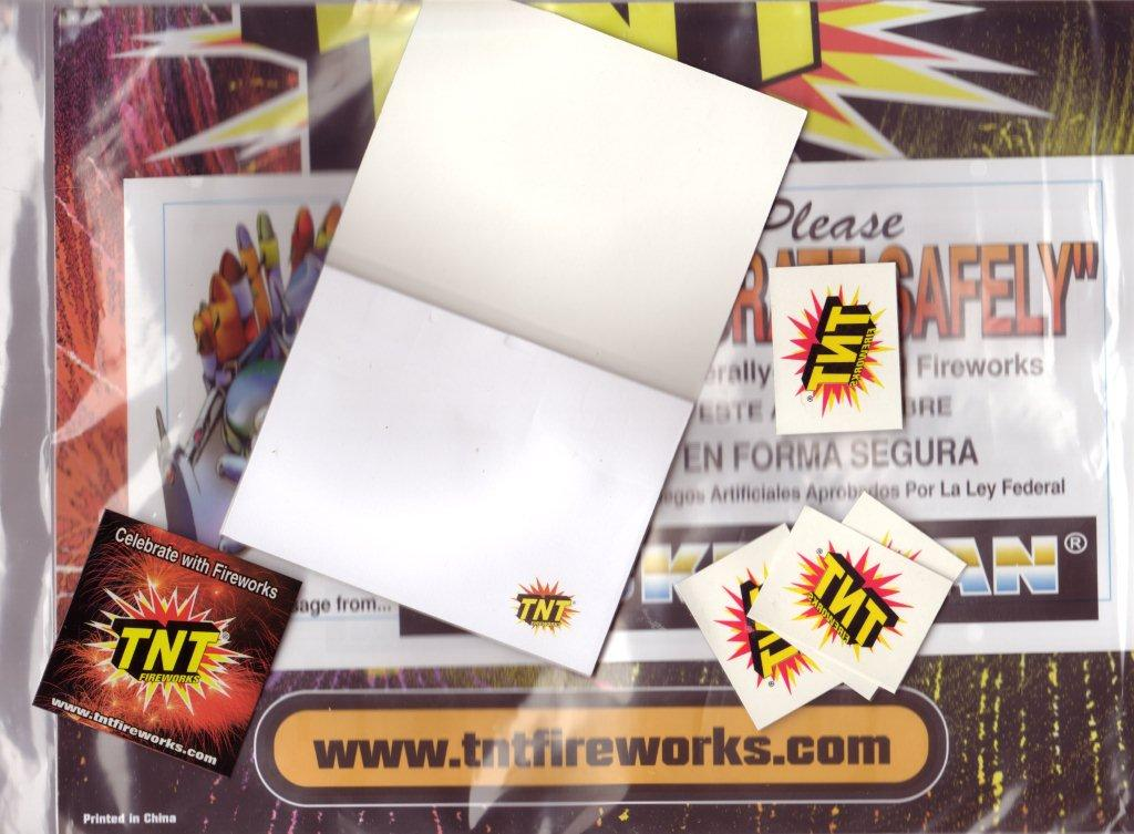 free tnt fireworks poster  sticker  magnet and tattoos