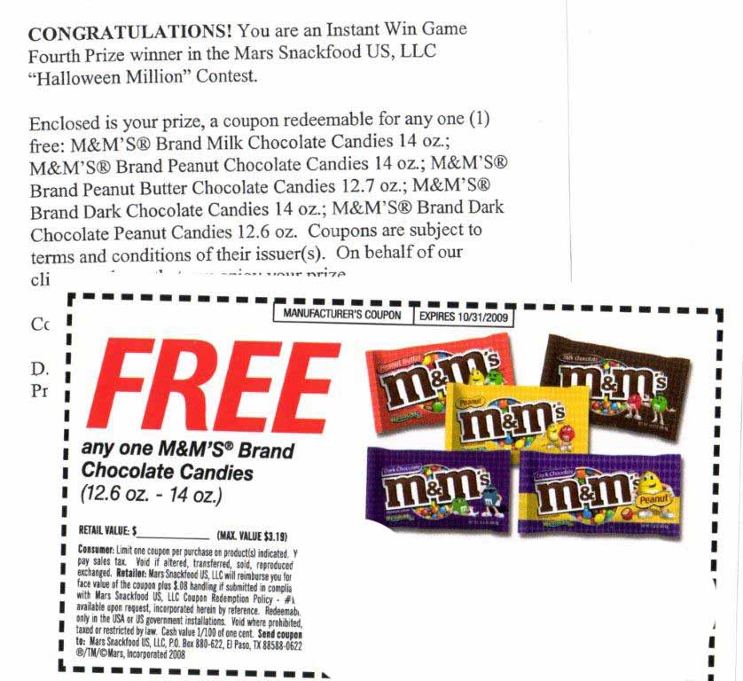 Save money with M&M's Coupons from Krazy Coupon Lady! Select your free M&M's grocery coupons, then scroll down the page to find M&M's deals at Save money with M&M.