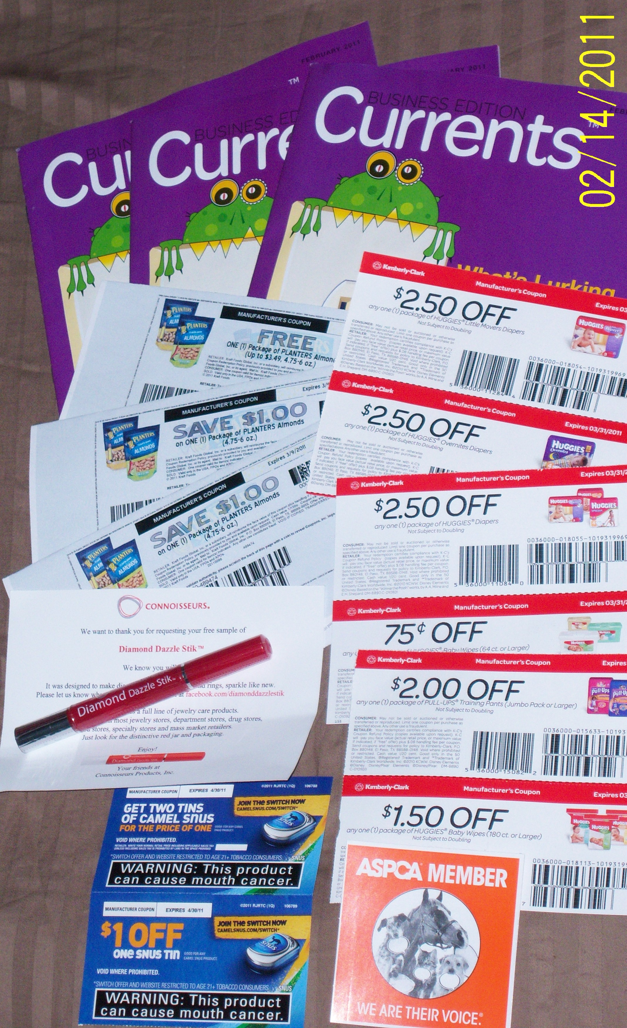 Camel coupons by mail