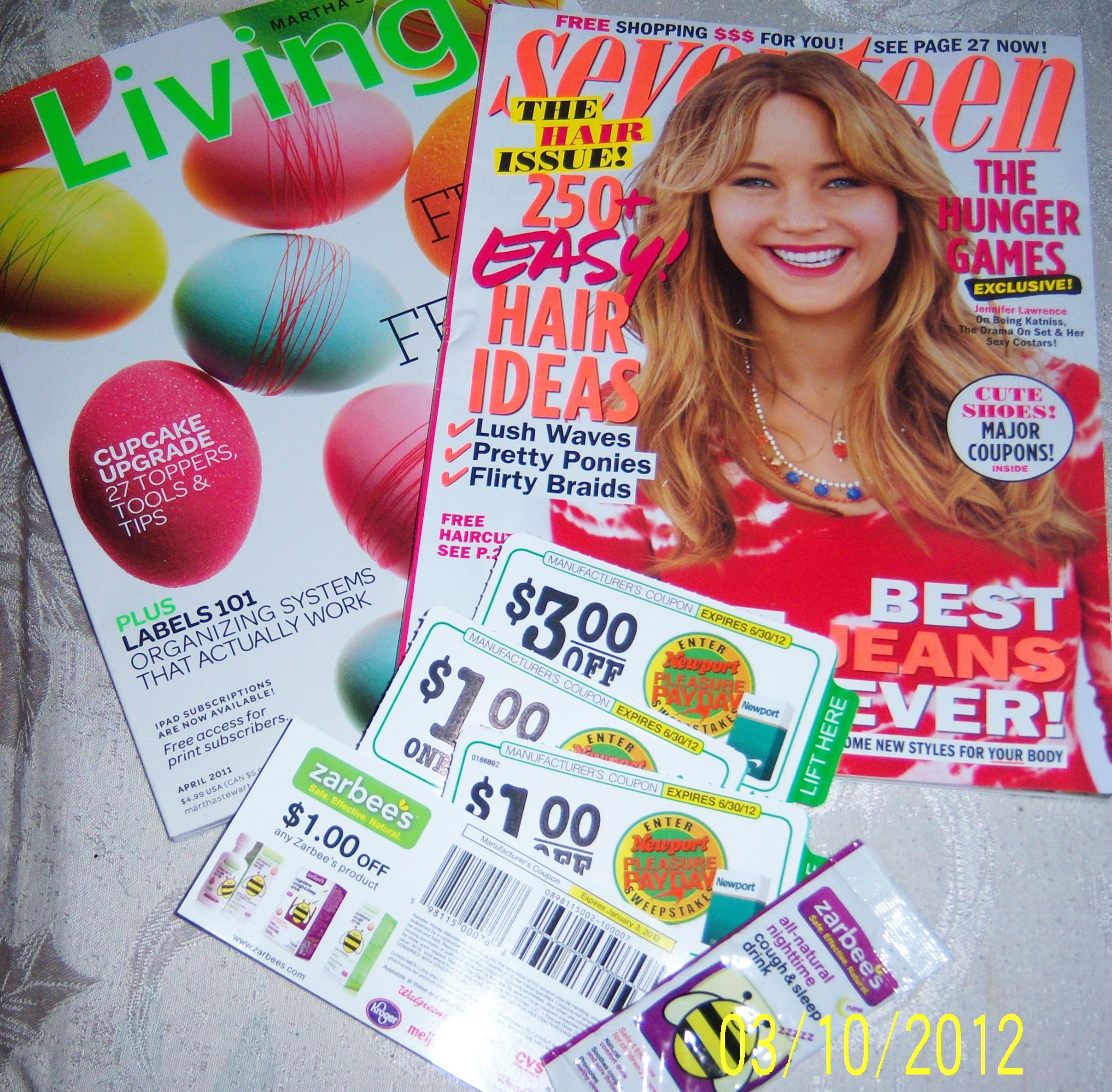 seventeen magazine freebies codewords
