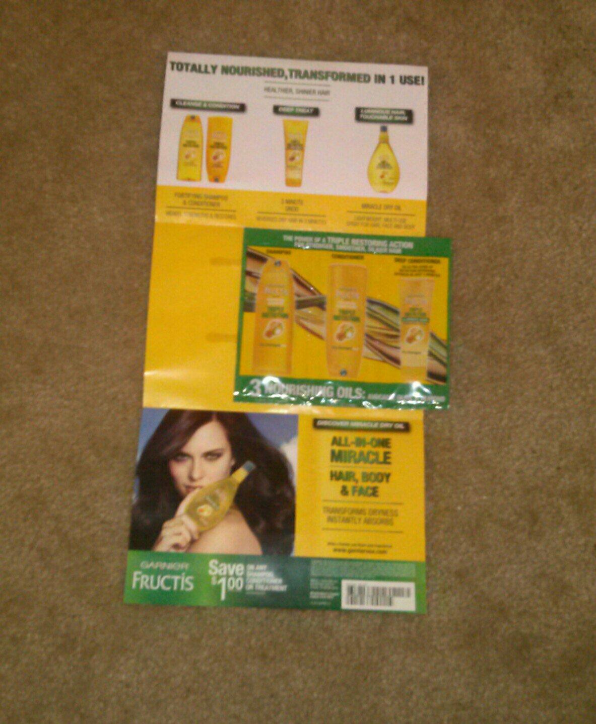 Garnier Fructis Triple Nutrition Shampoo,conditioner, Deep