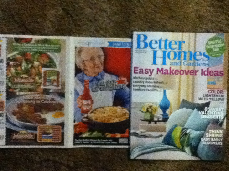 better homes and gardens february 2014 magazine with coupons
