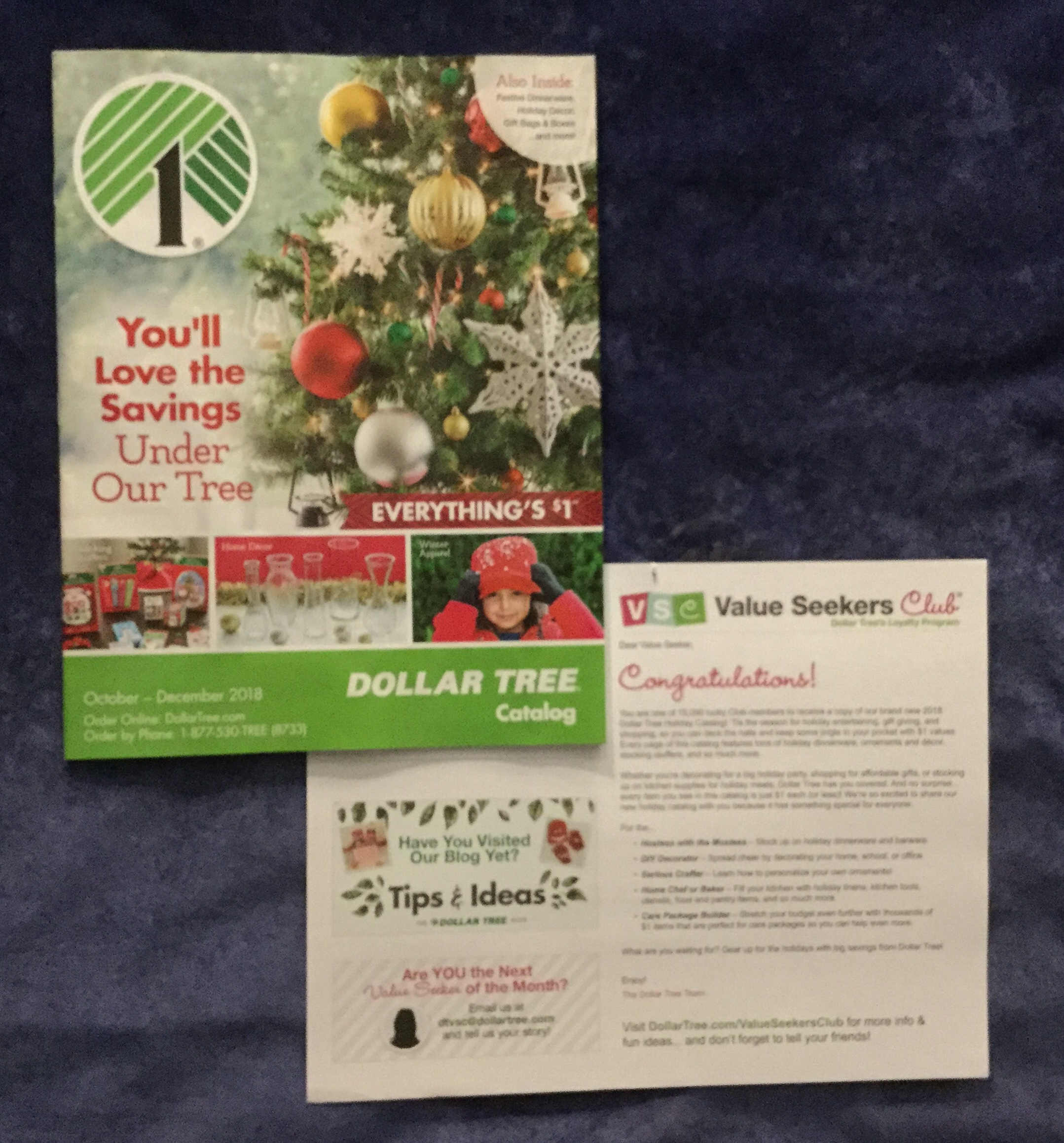 Free Dollar Tree Christmas 2018 catalog