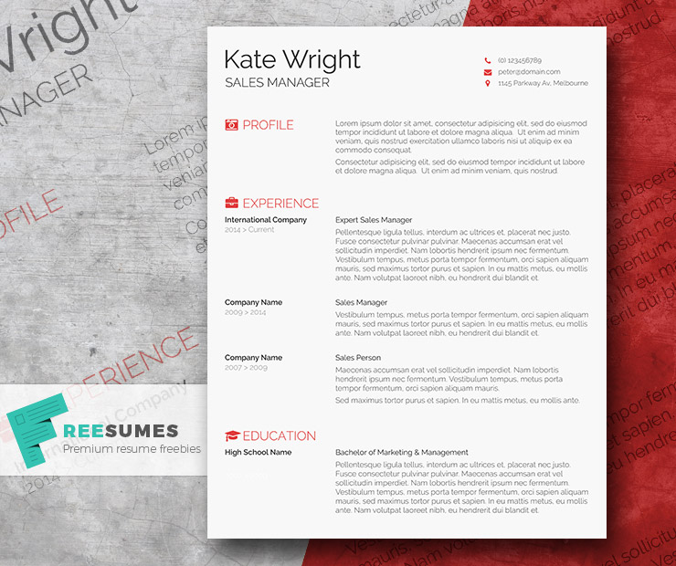 Free minimalistic and clean resume template for your dream job search. Smart Freebie Word Resume Template The Minimalist Freesumes