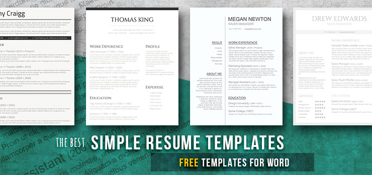 Free and premium plans sales crm software. Simple And Basic Resume Templates Free Downloads Freesumes