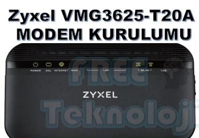 Zyxel VMG3625-T20A MODEM KURULUMU