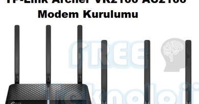 TP-Link Archer VR2100 AC2100 Modem Kurulumu