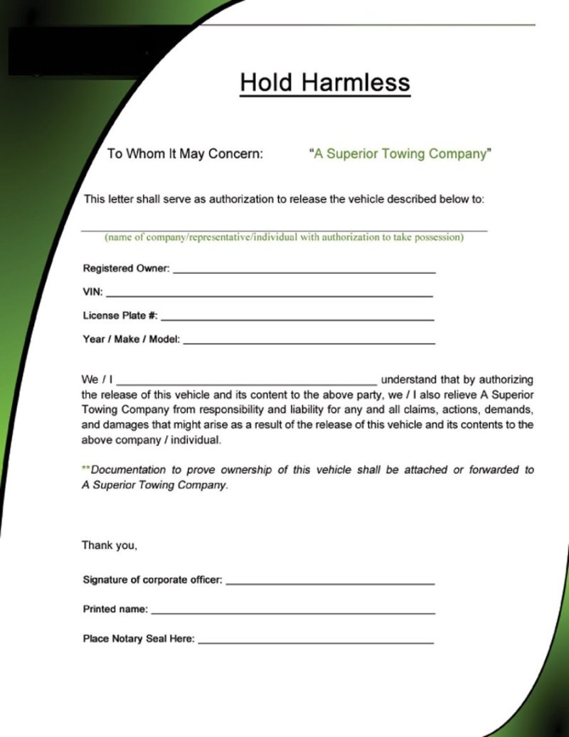Icaew Hold Harmless Letter Template Poemsrom