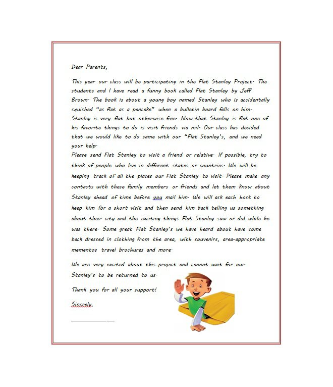 37 Flat Stanley Templates Amp Letter Examples Free Template Downloads