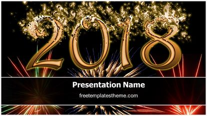New year 2018 powerpoint template yeniscale new year 2018 powerpoint template toneelgroepblik Image collections