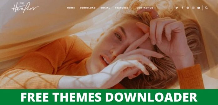 Heather is a Responsive Personal Blogger Template Free Download