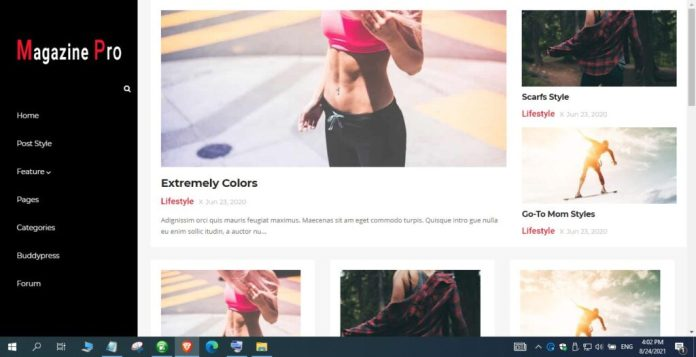 Main Features of Magazine Pro Blogger Template