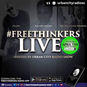 Tonight! Urban City Radio takes over #Freethinkers speaking with @mrdelmusic abo…