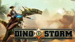 Dino Storm - Um MMO 3D gratuito com cowboys, dinossauros e armas laser.