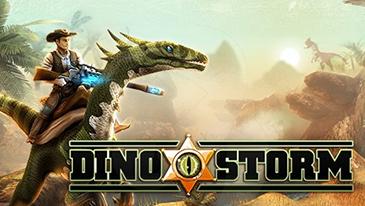 Dino Storm - Um MMO 3D grátis para jogar com cowboys, dinossauros e armas a laser.