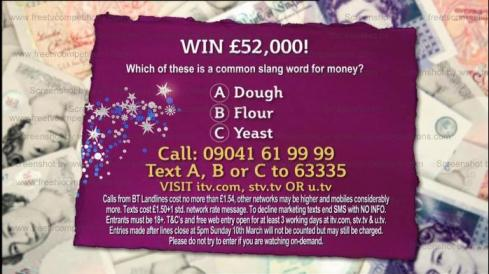 This Morning ITV competition question Feb March 2013