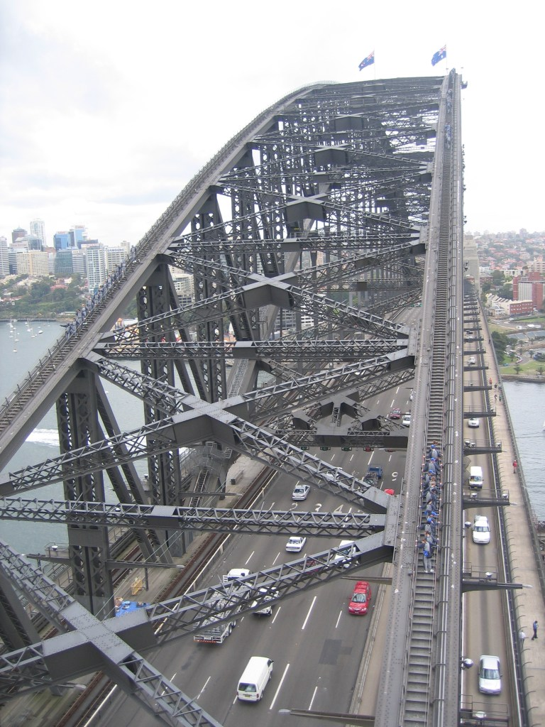 View of the bridge from the Pylon Lookout, Sydney
