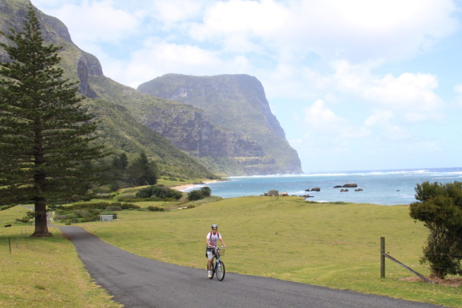 Enjoying the island by bike